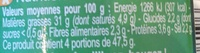 Pesto vert - Informations nutritionnelles - fr