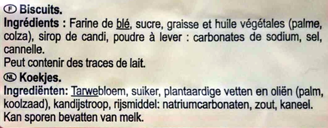 Spéculoos Carrefour - Ingredientes - fr