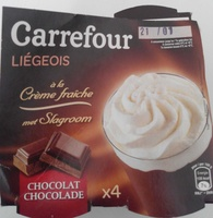 Liégeois à la Crème fraîche Chocolat (x 4) - Product