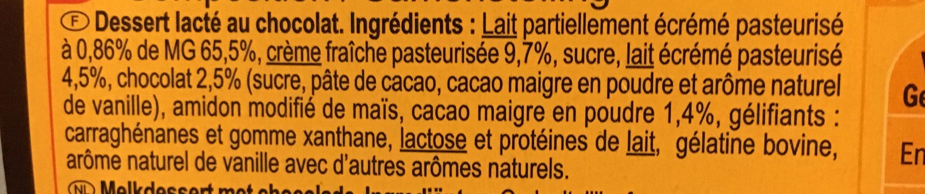 Liégeois à la Crème fraîche Chocolat (x 4) - Ingredients