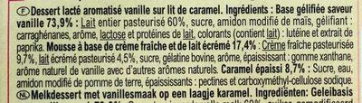 Liégeois saveur vanille - Ingredienti - fr