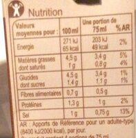 Sauce champignons a la creme fraiche - Informations nutritionnelles - fr