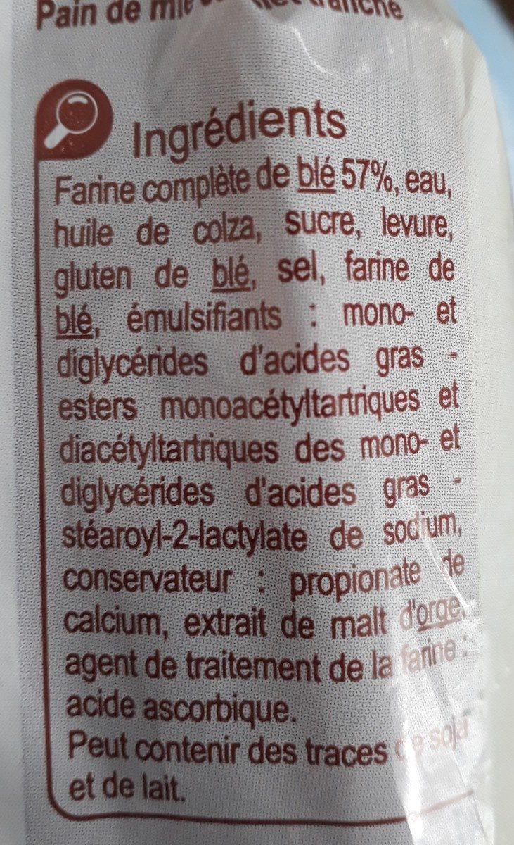 Pain de mie Moelleux - Ingrédients - fr