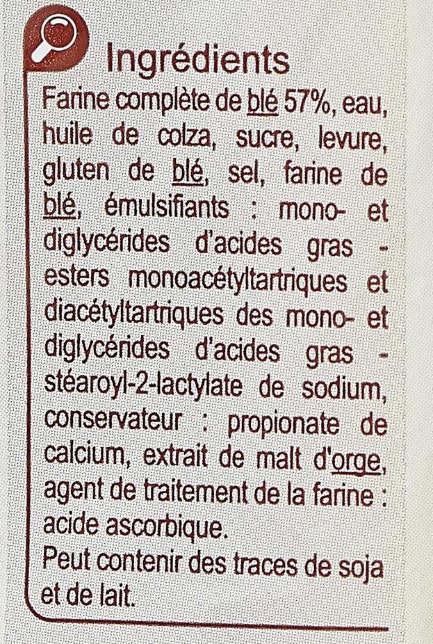 Pain de mie Moelleux - Ingredienti - fr