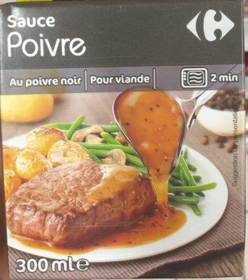 Sauce pour viande poivre carrefour 300 ml - Sauce pour viande rouge grillee ...
