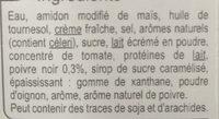 Sauce pour viande Poivre - Carrefour - Ingrediënten