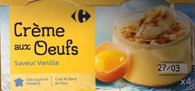 Crème aux œufs - Saveur vanille - Produit