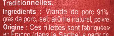 Rillettes du Mans - Ingrediënten - fr