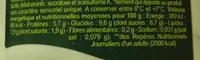 Bifidus* Fraise - Informations nutritionnelles - fr