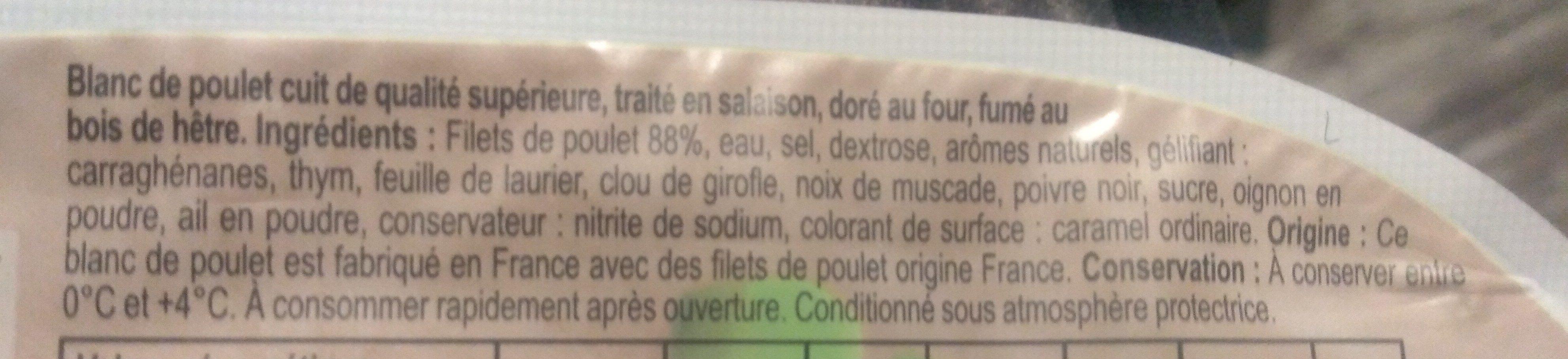 Blanc de poulet Fumé - Ingrediënten - fr