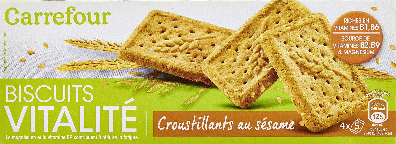 Biscuit Vitalité croustillants sésame - Product - fr