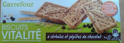 Biscuits vitalité 4 céréales et pépites de chocolat - Produit - fr