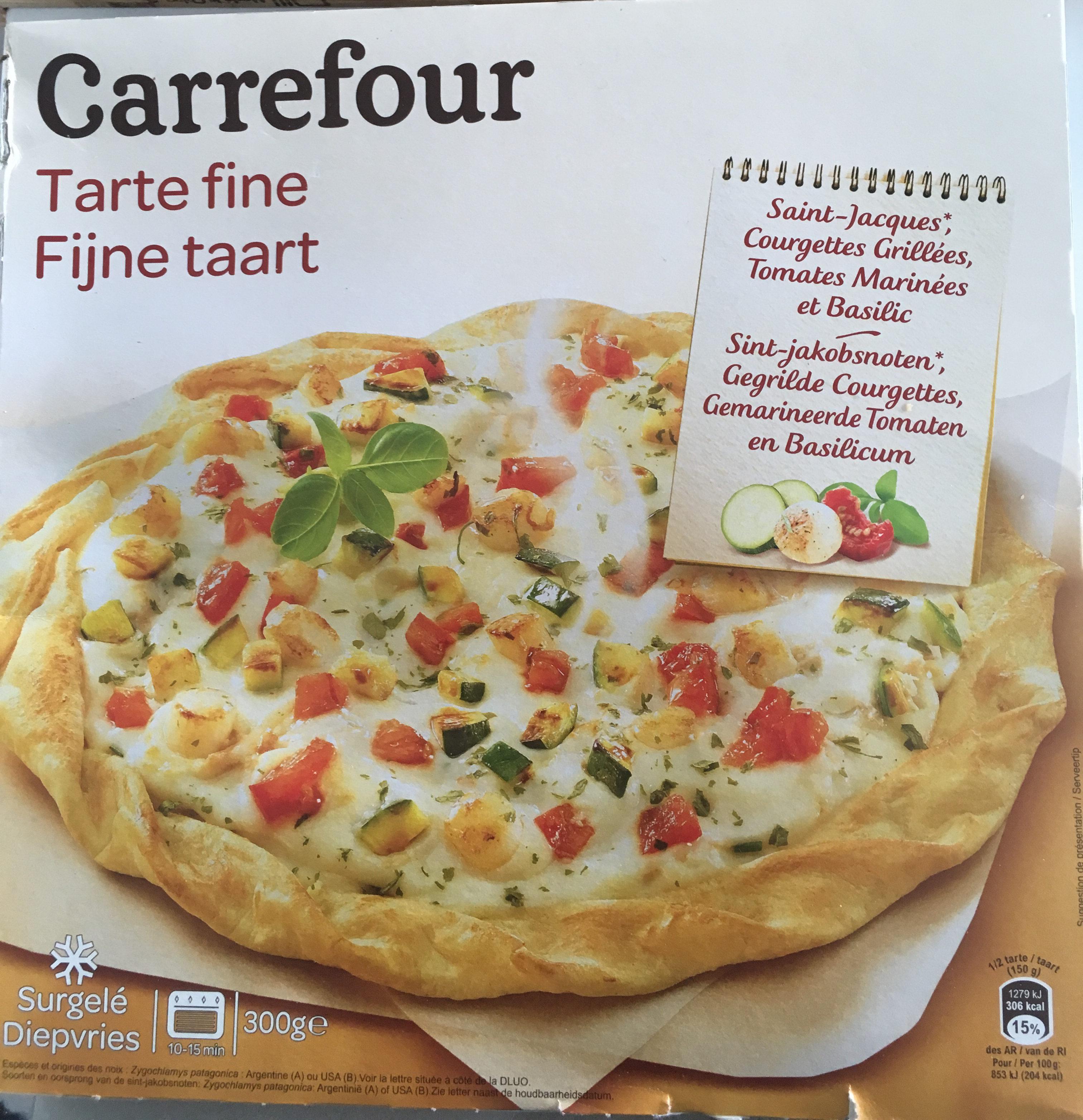 Tarte Fine, Noix de Saint-jacques et Courgettes grillées - Product - fr
