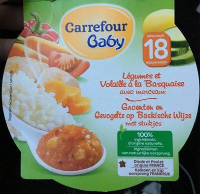 Légumes et volaille à la Basquaise Carrefour Baby - Produit