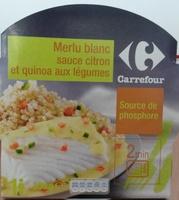 Merlu blanc sauce citron et quinoa aux légumes - Produit