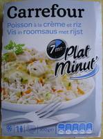 Plat minut' : Poisson à la crème et riz, Surgelé - Produit