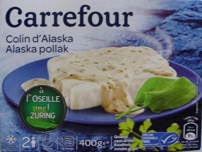 Colin d 39 alaska l 39 oseille surgel carrefour 400 g 2 - Cuisiner du colin surgele ...