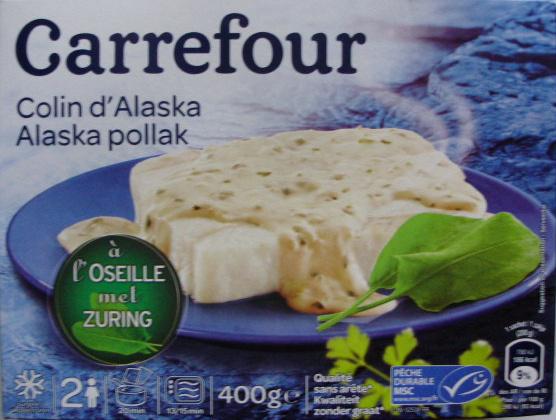 Colin d'Alaska à l'Oseille, Surgelé - Produit