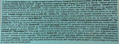 Mini tartelettes Les Aperitifs, 4 recettes - Ingrédients - fr