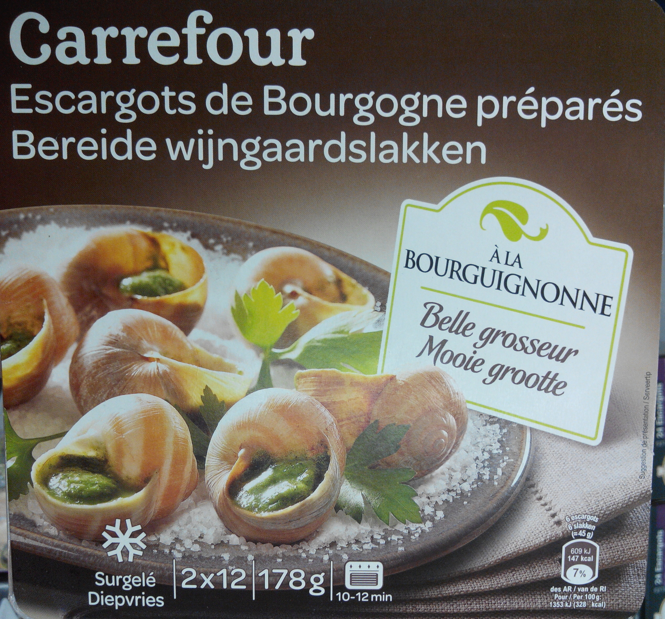 escargots de bourgogne pr par s carrefour 178 g. Black Bedroom Furniture Sets. Home Design Ideas