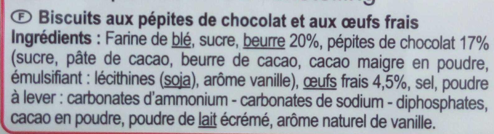 Les Galettes Pépites de chocolat - Ingrédients - fr