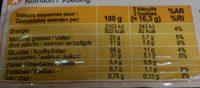 Les Galettes Pépites de chocolat - Informations nutritionnelles - fr