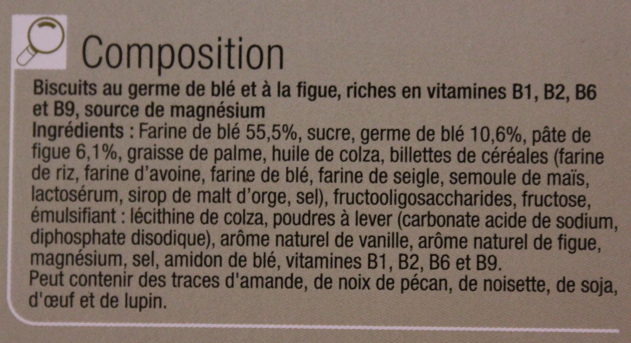 Biscuits germe de blé figue - Ingredients - fr