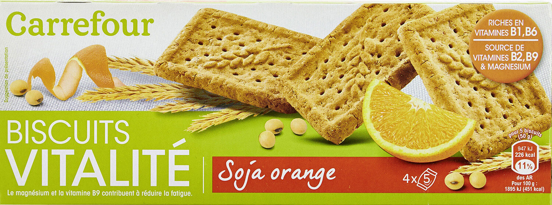 Biscuits vitalité - Soja orange - Produit - fr