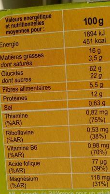 Biscuits vitalité - Soja orange - Ingrédients - fr