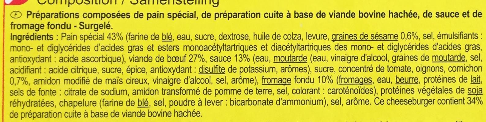 Cheeseburgers - Ingrediënten - fr