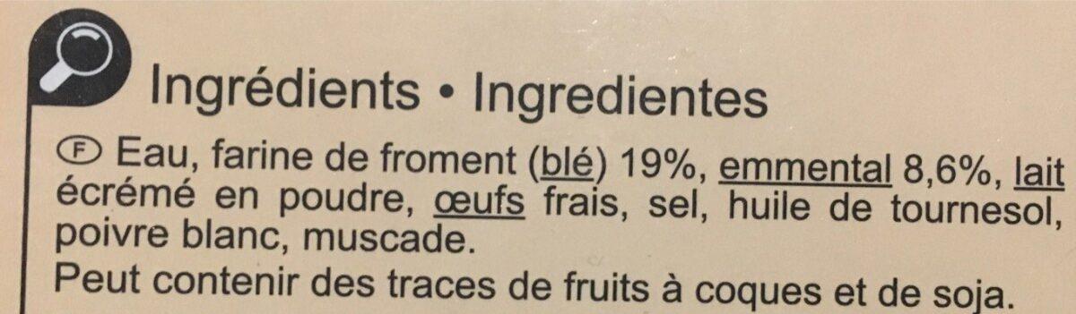 Crêpes Emmental - Ingredients