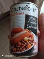 Saucisses lentilles - Produkt - fr