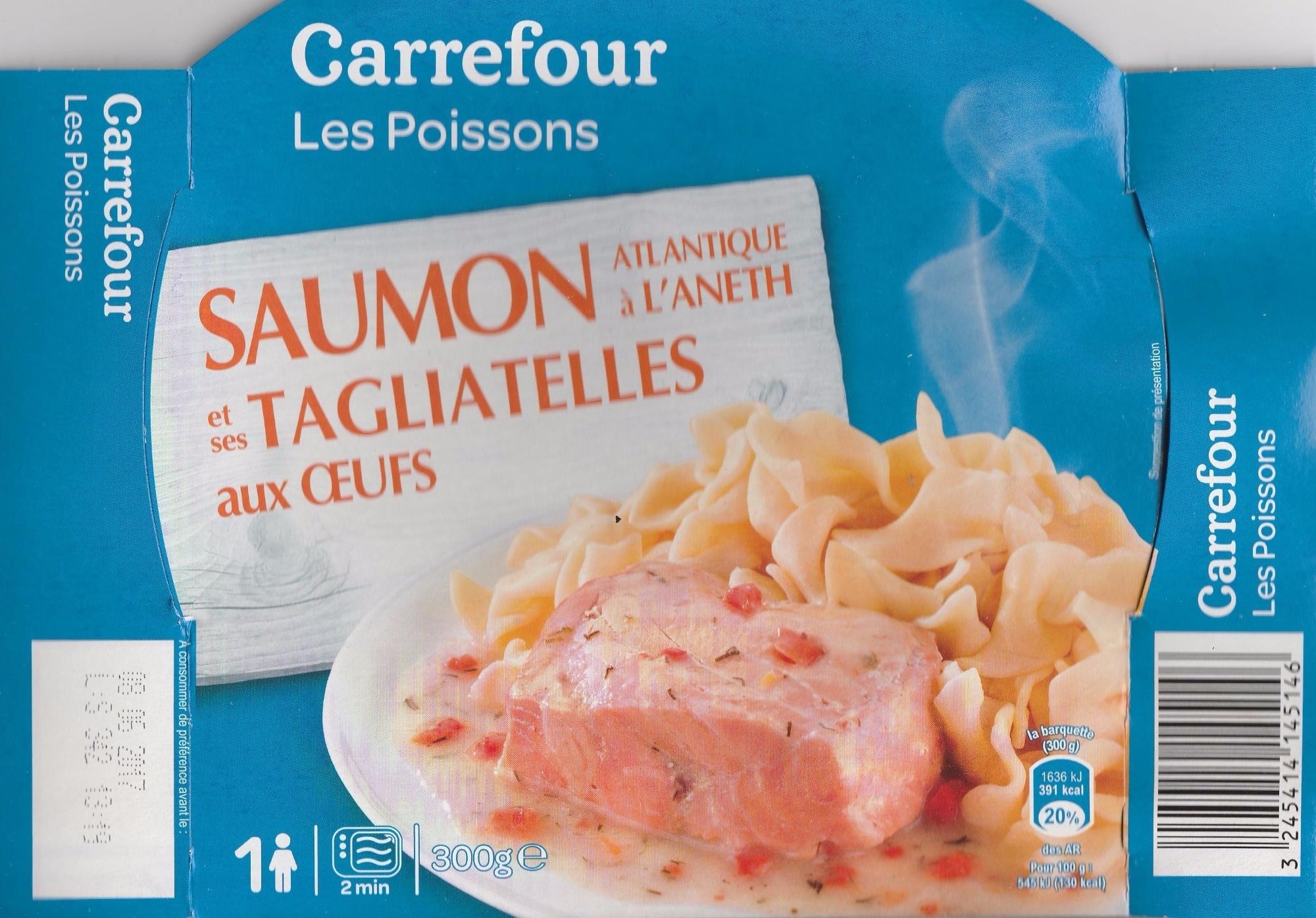 Saumon et Tagliatelles aux Oeufs - Produit - fr