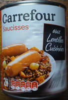 Saucisses aux Lentilles Cuisinées - Product