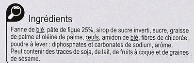 Sablés Cœur à la Figue - Ingredients