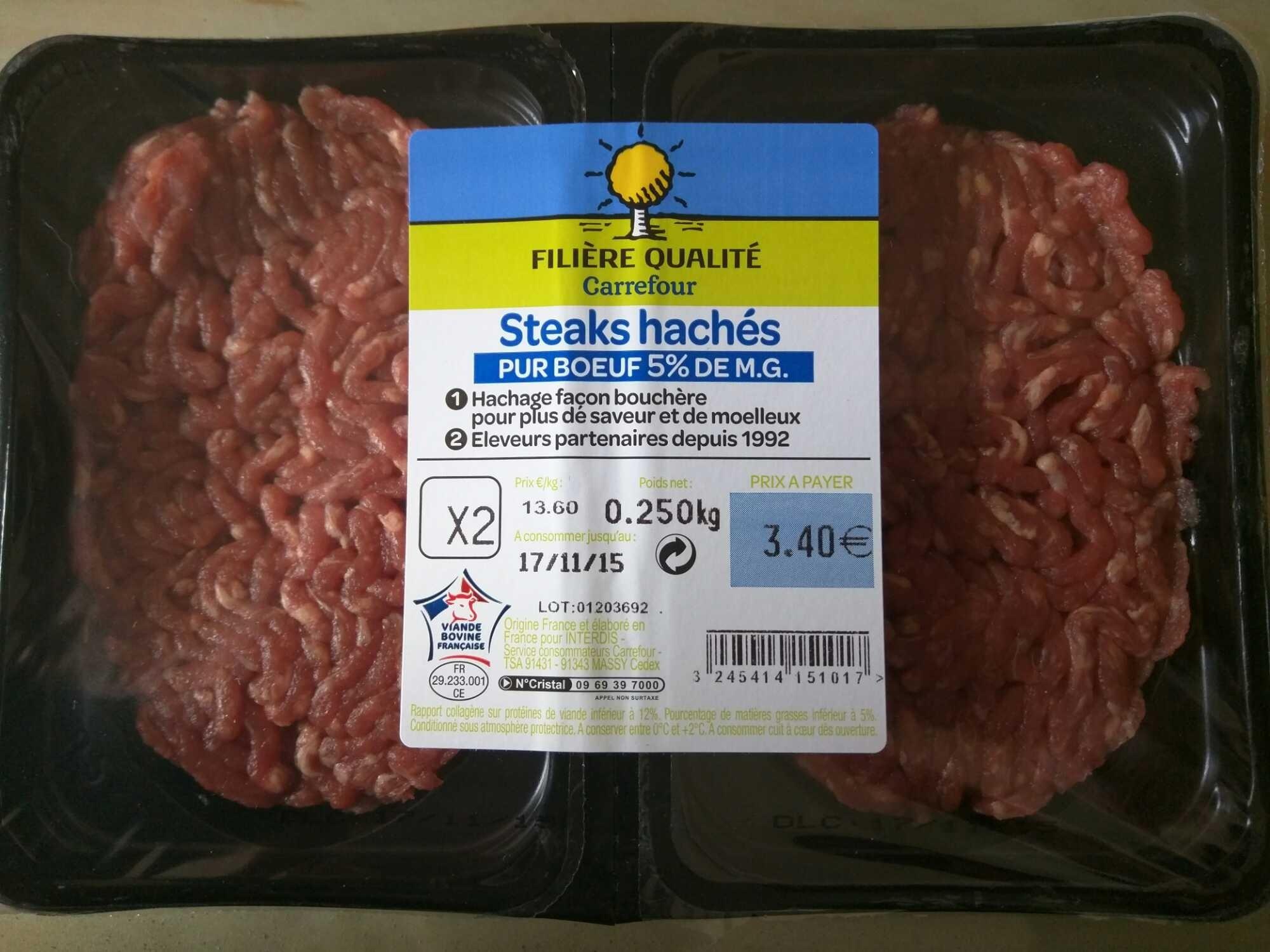 Steak haché pur boeuf - Produit
