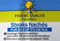 Steak haché pur boeuf - Ingrédients