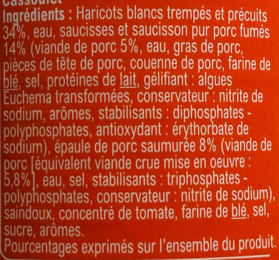 Cassoulet - Ingredients