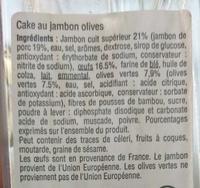 Cake Jambon Olives - Ingredients
