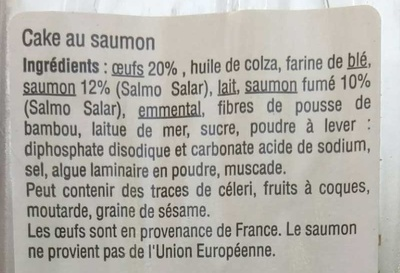 Cake au Saumon - Ingredients