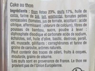 Cake au Thon - Ingrédients