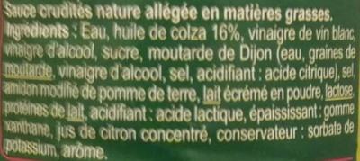 Sauce crudités light nature - Ingredients - fr