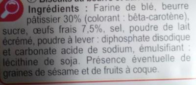 Palets bretons - Ingrediënten