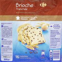 Brioche tranchée aux pépites de chocolat - Produit - fr