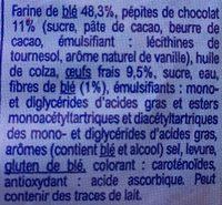 Brioche tranchée aux pépites de chocolat - Ingredients - fr