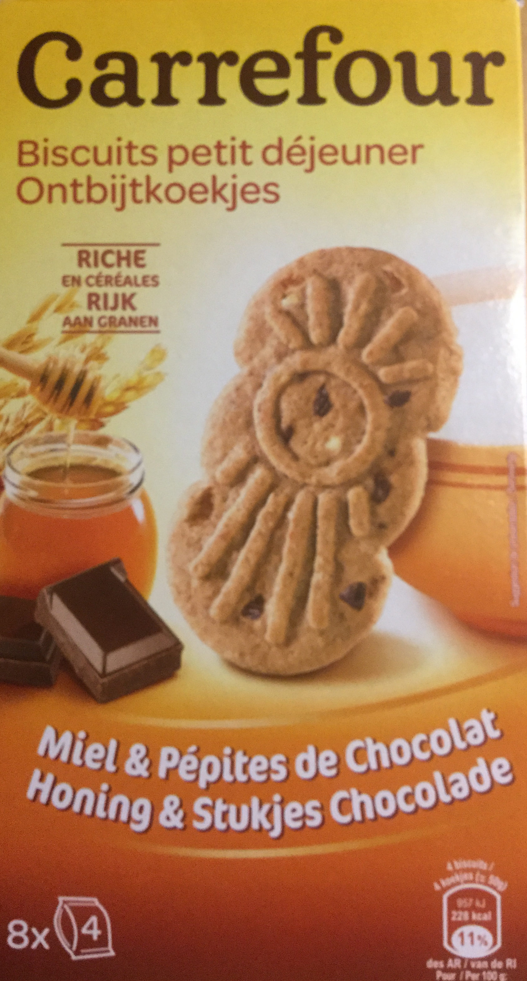 Biscuits P'tit dèj aux pépites de chocolat et au miel - Product - nl