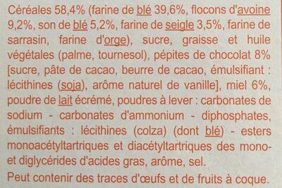P'tit dej - Ingredients - fr
