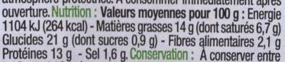 Pâté En Croûte De Canard Pistaché - Voedingswaarden