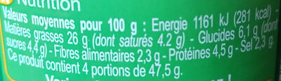Pesto rouge - Nutrition facts - fr