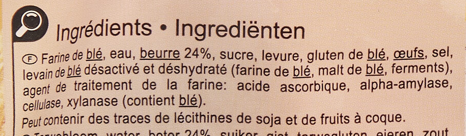 Croissants - Ingredients - fr